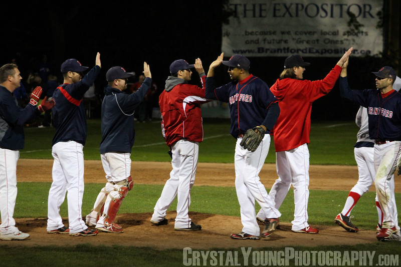 Barrie Baycats at Brantford Red Sox IBL Playoffs, Finals Game 5 September 5, 2013