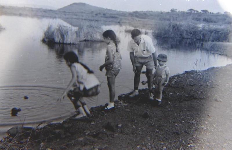 Venancio, e filho Jean Claude e filhas do enfermeiro Carmo: Antonieta e Gisela