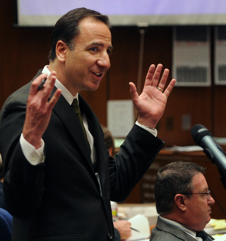 . Prosecutor Habib Balian in the murder trial of Christian Karl Gerhartsreiter,  at Clara Shortridge Foltz Criminal Justice Center in Los Angeles Wednesday, March 27, 2013. He has pleaded not guilty to the killing of John Sohus, 27, who disappeared with his wife, Linda, in 1985 while Gerhartsreiter was a guest cottage tenant at the home of Sohus\' mother, where the couple lived. (AP Photo/San Gabriel Valley Tribune,Walter Mancini ) MAGS OUT; NO SALES; MANDATORY CREDIT