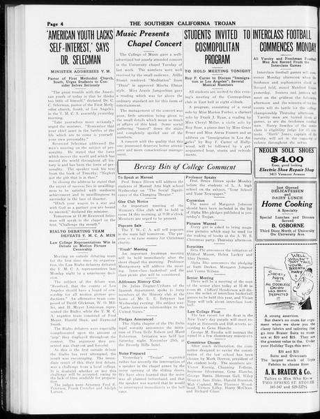The Southern California Trojan, Vol. 8, No. 42, December 06, 1916