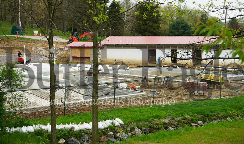 Photo by J.W. Johnson Jr.Work continues on a renovation project of the pool in Zelienople Community Park.