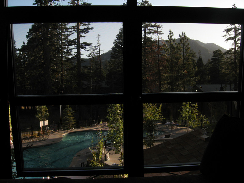 View from room at Westin Mammoth Lakes