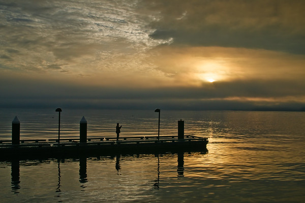 Suquamish's New Dock at Sunrise.