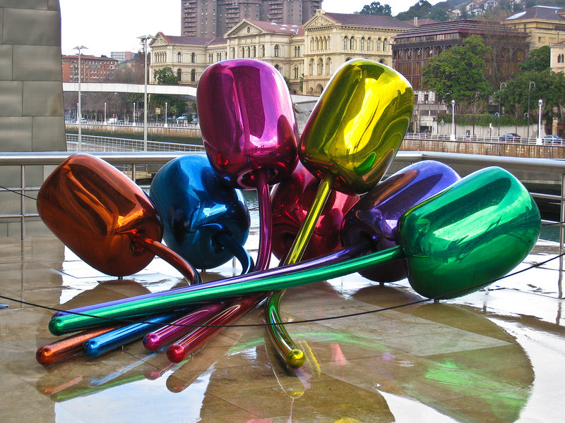 """Tulips"" a sculpture outside the Guggenheim museum in Bilbao. (Dec 10, 2007, 10:48am)"