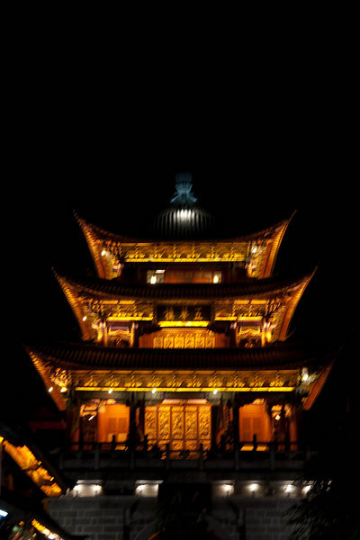 Night view of pagoda in Old Town.