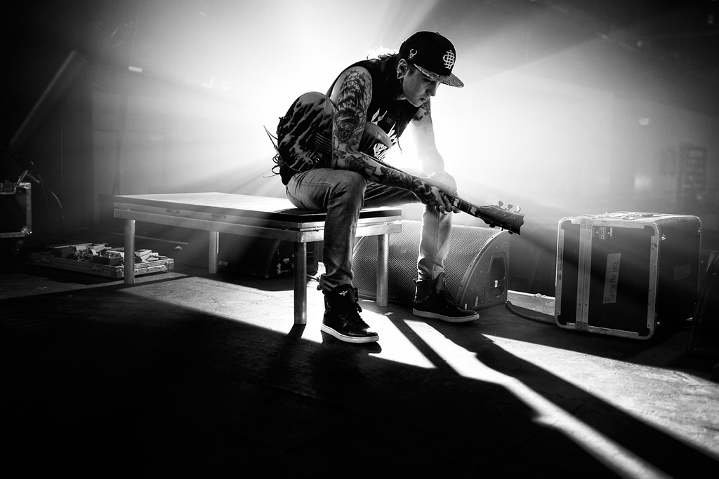Tony Perry sound checking at The Warehouse Live in Houston, texas