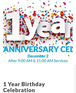 12-2-2018 One Year Old!