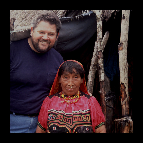 Wichab Huala, San Blas Island - 1993 - Jim with Cuna Woman.jpg