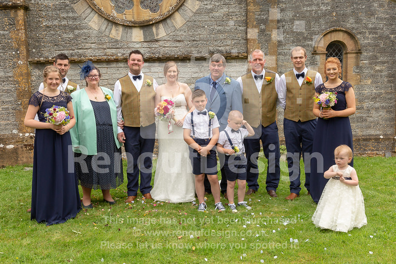 Family and Friends at Corfe Church