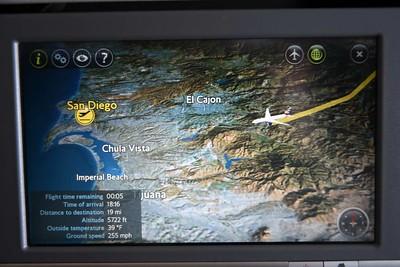 Heathrow - San Diego flight, 2019
