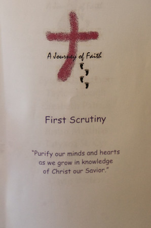 2018 March 4 RCIA First Scrutiny at Corpus Christi Church