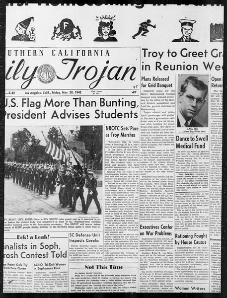 Daily Trojan, Vol. 34, No. 45, November 20, 1942
