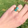 Vintage Bypass Gemstone Ring 2