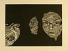 "Tripod<br /> <br /> linoleum block print, ink on paper<br /> 24.5"" x 18"""