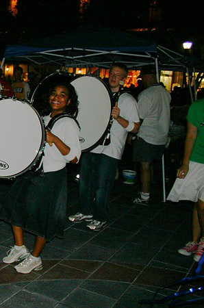 7-30-06 Drumline Performance at Town Square
