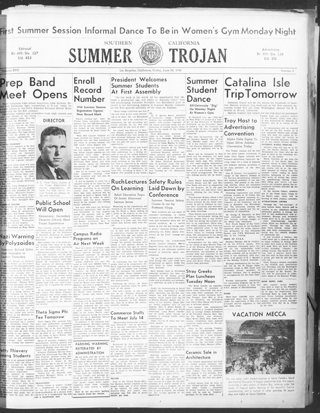 Summer Trojan, Vol. 17, No. 2, June 24, 1938
