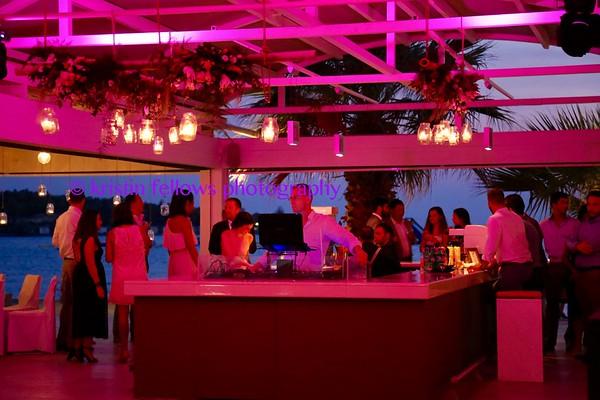A Greek Riviera Wedding Reception