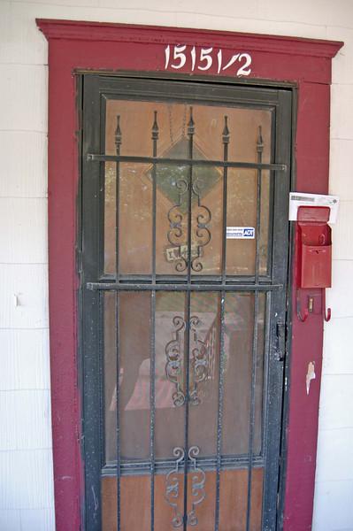 Front door before.