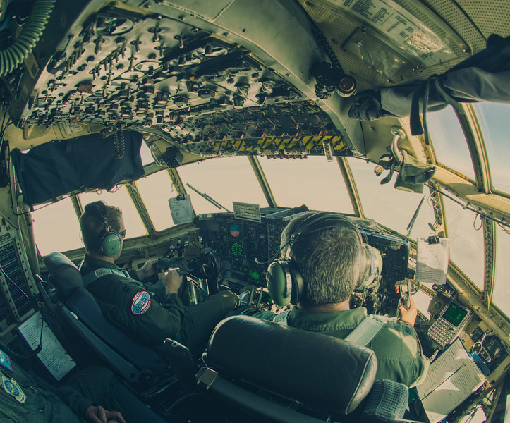 Flying to Antarctica
