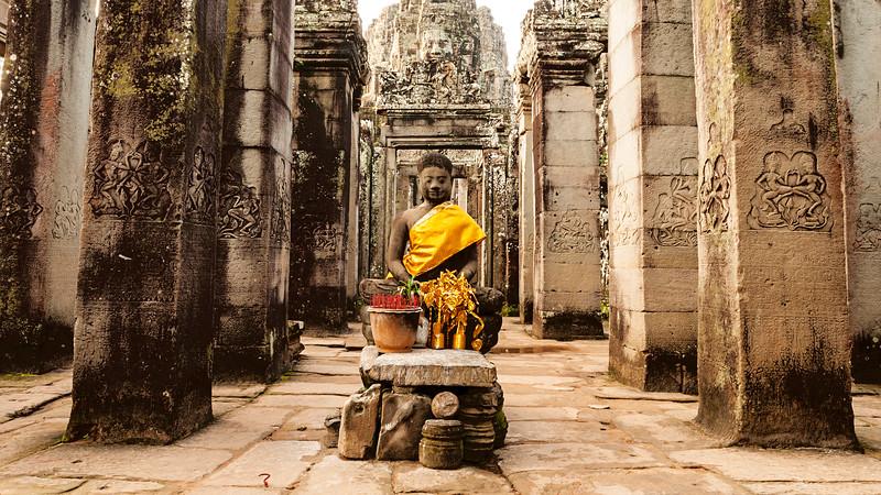 Buddha At Bayon Temple, Angkor Thom, Cambodia