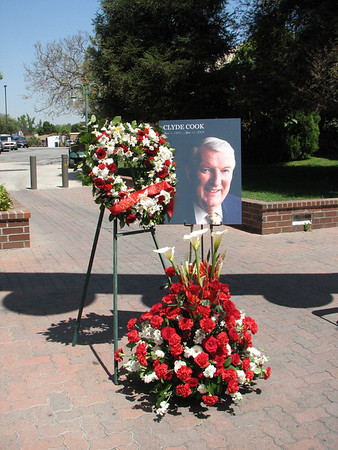 2008.04.17 Thu - Dr. Clyde Cook memorials around Biola-Talbot campus