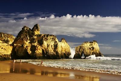 Portugalsko říjen 2014 - čtvrtý den: Praia dos Trés Irmaos, Ponta de Sagres, Cabo de Sao Vicente