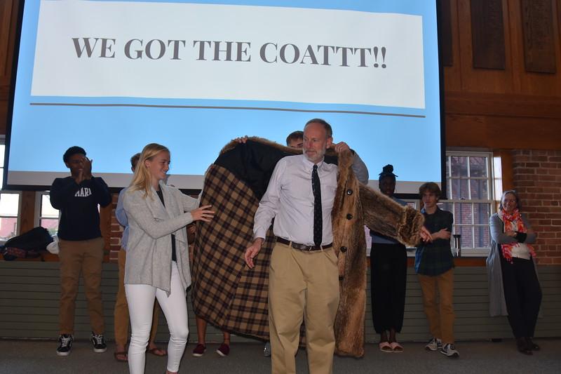 School Meeting: We Got The Coat!
