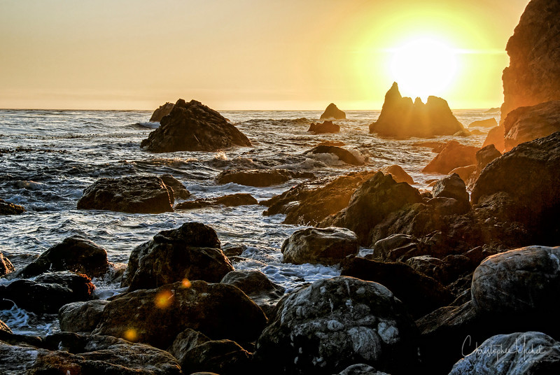 The final moments of light in Big Sur.