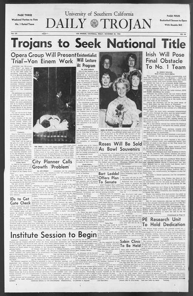 Daily Trojan, Vol. 54, No. 44, November 30, 1962