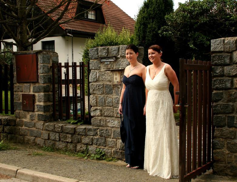 Cait & Eddie Wedding 14 Bride and Bridesmaid Conifer Cottage.jpg.jpg
