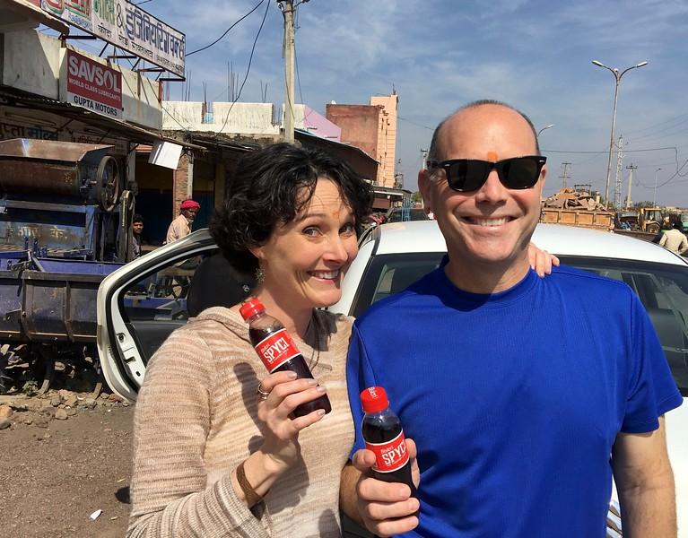Looks like a coke...is it going to taste like spicy coke??? $0.15 a bottle.  What the heck, we'll try it....Mmmmm...kinda yummy!