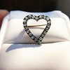 Victorian Rose Cut Witches Heart Pin 17