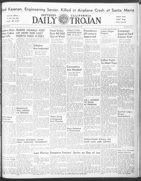 Daily Trojan, Vol. 28, No. 145, May 27, 1937