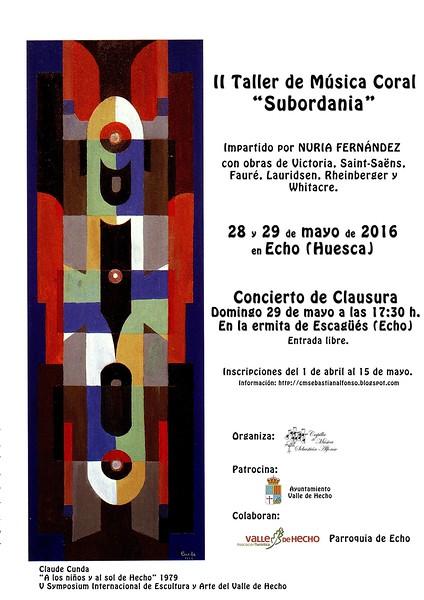 """II Taller de Música Coral """"Subordania"""""""