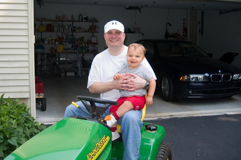 K.C.'s first tractor ride.