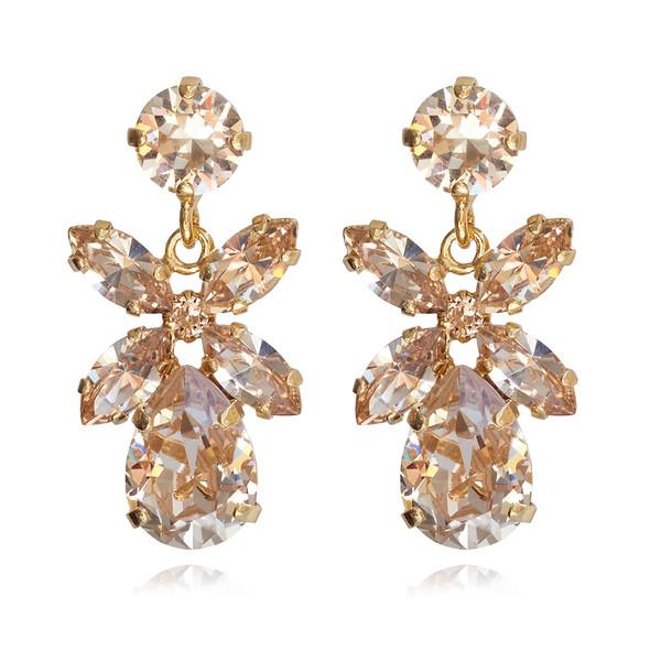 Mini Dione Earrings / Silk / Gold