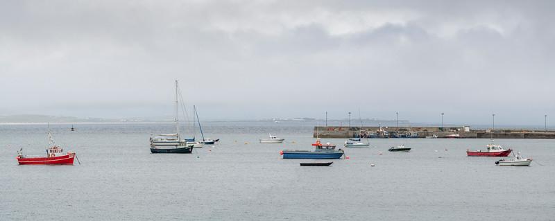 Boats in Mullet Peninsula, Belmullet, Erris, County Mayo, Republic of Ireland