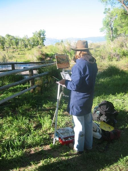 Wanda painting River on E&A ranch.jpg