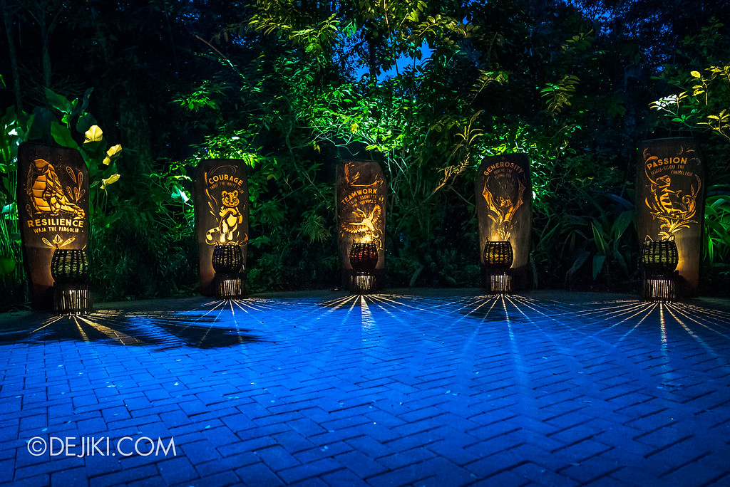 Singapore Zoo Rainforest Lumina - Garden of Virtues friends