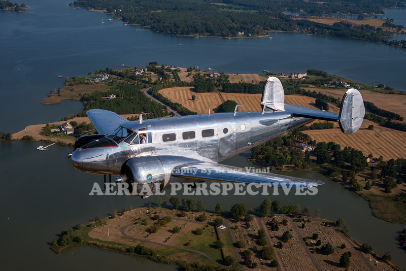 See more images from this flight here https://www.aerialperspectives.org/Airshows-By-Year/2019-Airshows/Easton-Airport-Day-Chicken-Drop/Beech-18-A2A/