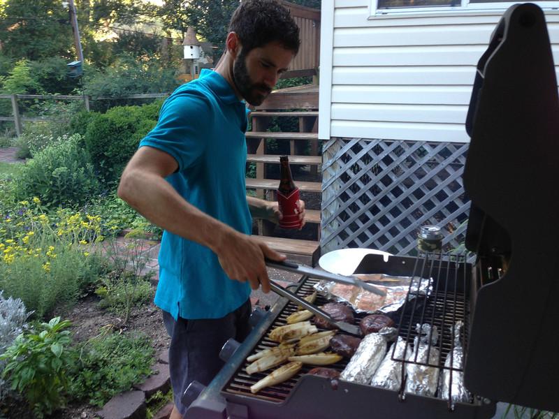 Jonathan at the grill