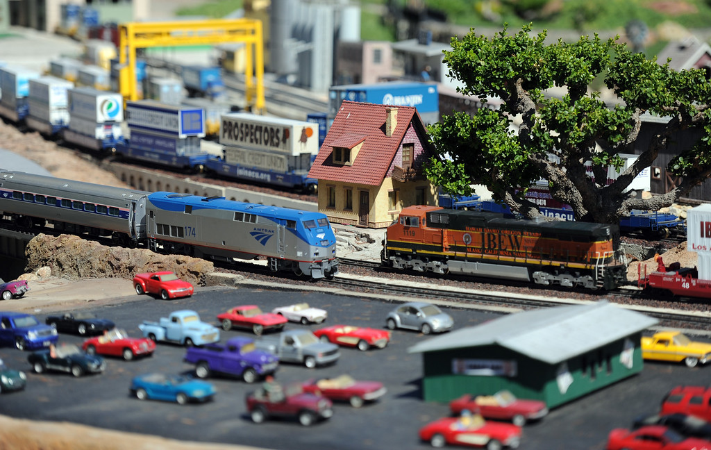 . The garden railroad during the 91st Annual L.A. County Fair in Pomona, Calif. on Thursday, Sept. 5, 2013.   (Photo by Keith Birmingham/Pasadena Star-News)