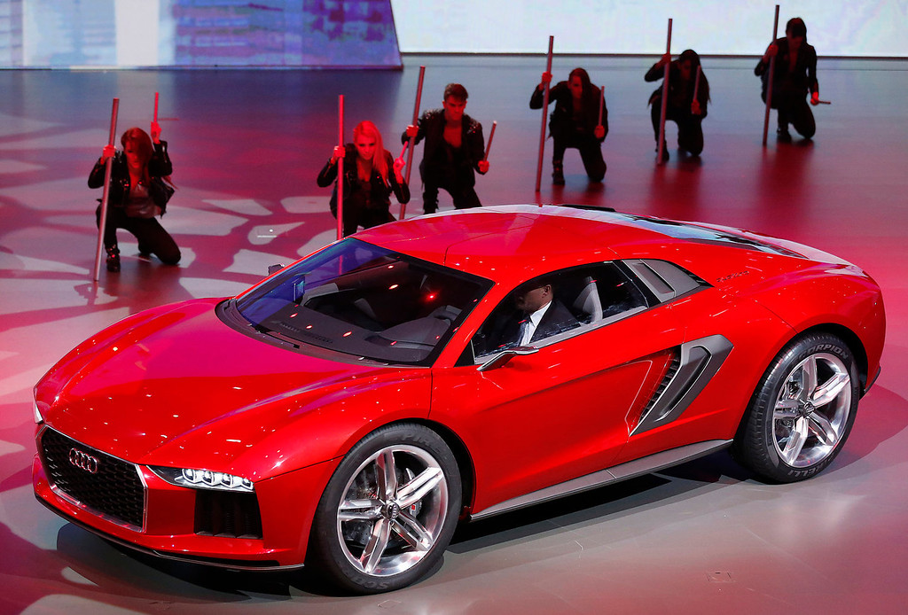 . The new Audi Nanuk Quatro is presented during a preview by the Volkswagen Group prior to the 65th Frankfurt Auto Show in Frankfurt, Germany, Monday, Sept. 9, 2013. More than 1,000 exhibitors will show their products to the public from Sept. 12 through Sept. 22, 2013. (AP Photo/Frank Augstein)