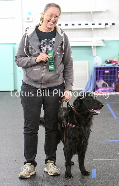 Flat Coat Retriever Vinnie & Kathleen