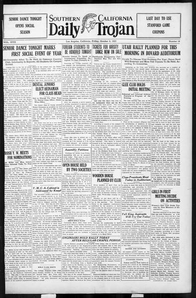 Daily Trojan, Vol. 17, No. 18, October 09, 1925