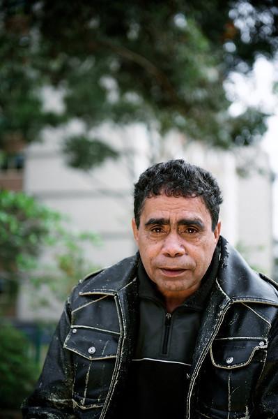 Aboriginal Elder outdoors in an Urban Environment