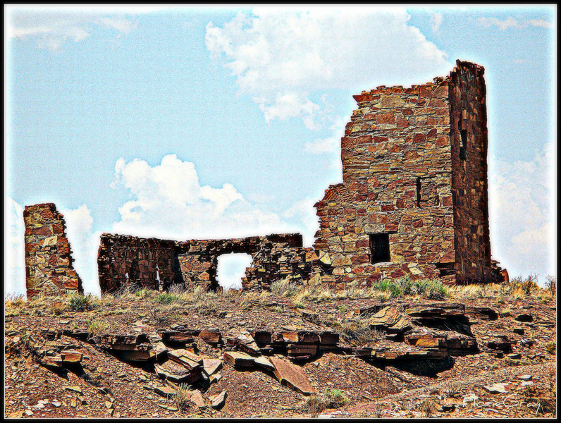 Abandoned 'Observatory'; Meteor Crater, Arizona     ©2008 FlorieGray