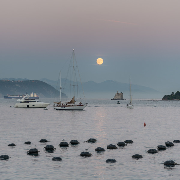 Moonrise - Portovenere, La Spezia, Italy - August 29, 2015
