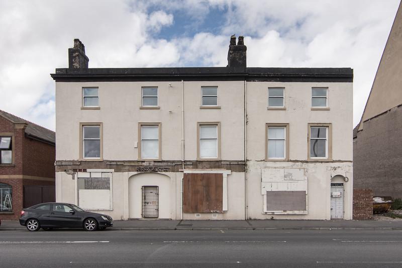 Derelict houses in Fleetwood, Lancashire