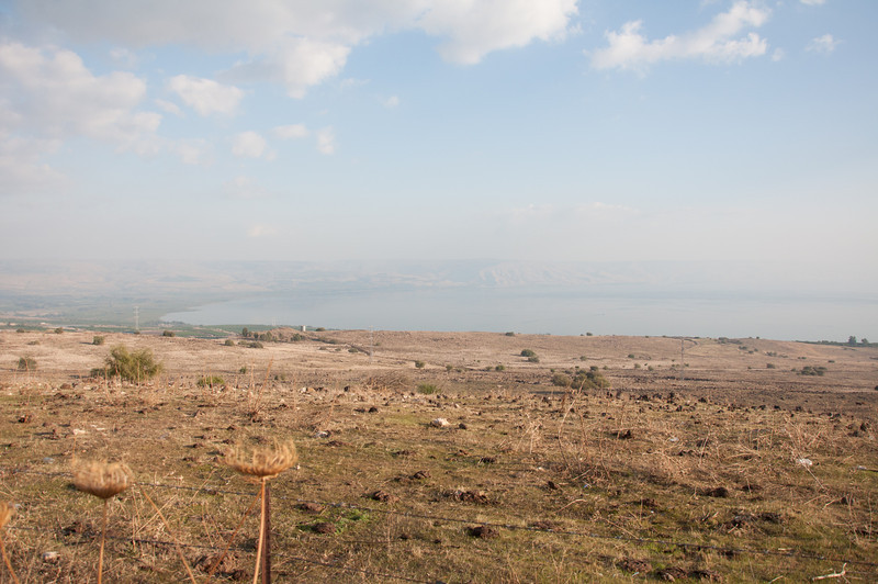 A view of the northern end of the Sea of Galilee in Israel.